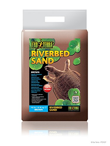 Exo Terra Riverbed Sand  10 Pound  Brown