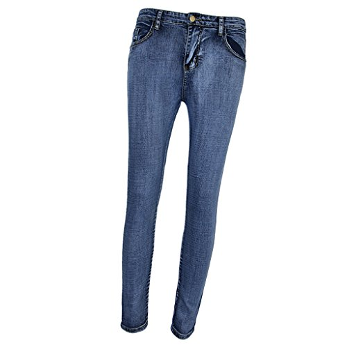 Elastica Ragazze Donna Leggings Pantaloni Homyl Moda Blu 7ZqvxWgn