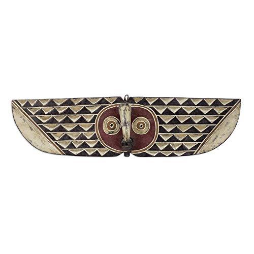 """NOVICA 170562"""" Butterfly Dancer Wood Mask"""