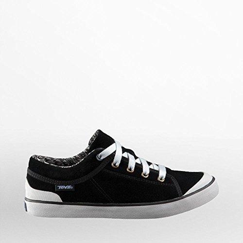 Teva Women's Freewheel Suede Sneaker,Black/Grey,6.5 M US