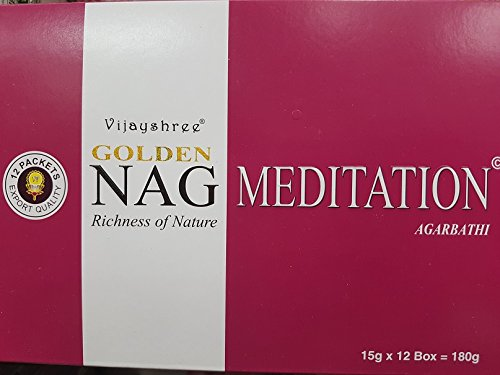 Vijayshree incenso Golden Nag Meditation 12  x 15g