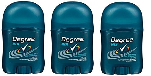 Degree Cool Rush Antiperspirant and Deodorant, 0.5 Ounce Travel Size (Pack Of 3)