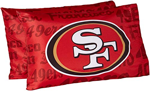 The Northwest Company NFL San Francisco 49Ers Anthem Pillowcase Set Anthem Pillowcase Set, Red, One Size