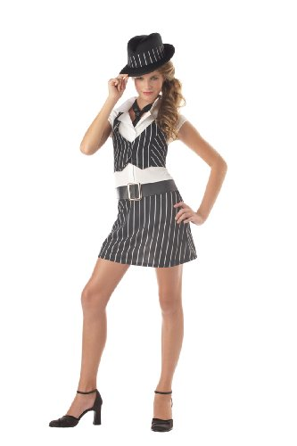 [California Costumes Girls Tween Mobsta Costume, X-Large (12-14)] (Gangster Girl Costumes)