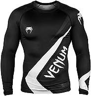 Venum Contender 4.0 Rashguard - Long Sleeves - Black/Grey-White-S, Black/Grey/White, Small