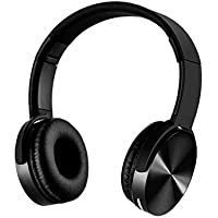 YHhao Over-Ear Headphone, Foldable Headphone with Microphone Mic and Volume Control for iPhone, iPad, iPod, Android Smartphones, PC, Laptop, Mac, Tablet, Over-Ear Headset for Music (Black03)
