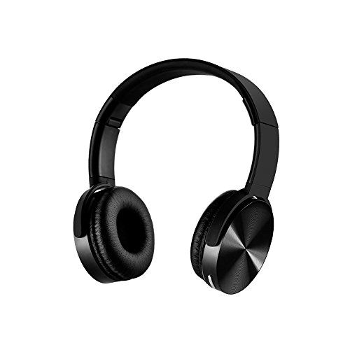 YHhao Wired/Wireless On-Ear Headphones, Noise Canceling Headsets, Foldable Headsets with Volume Control, Built-in Mic for PC, Computer, Laptop, iPhone, Android Smartphone, etc – Lightblack