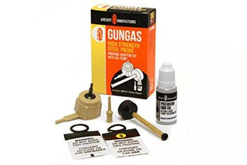 Airsoft Innovations GunGas Propane Adaptor Kit with STEEL PR
