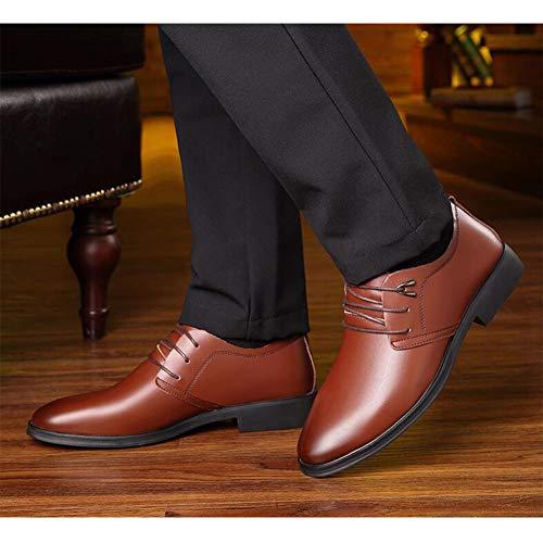Dough UK6 Colore Small Black Soft Pointed Men Leather Cerimonia CN39 Shoes FF Business EU39 Genuine Marrone Vestiti Taglia FvqxwRfna