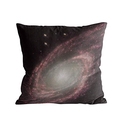 Caffling Velvet Soft Decorative Square Throw Pillow Covers Euro Shams Cushion Cases Pillowcases for Sofa Couch Chair Bedroom Car Back Seat, Mystic Space Nebula Universe Starry, 16