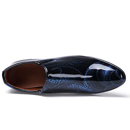 Hombres Para Azul Hombre Casual Zapatos Eu Color Desfile 2018 La Con Fuera Los Charol Personalidad 41 De Negocios Oxford En Punta Tamaño Moda Formales nzRYzqAX