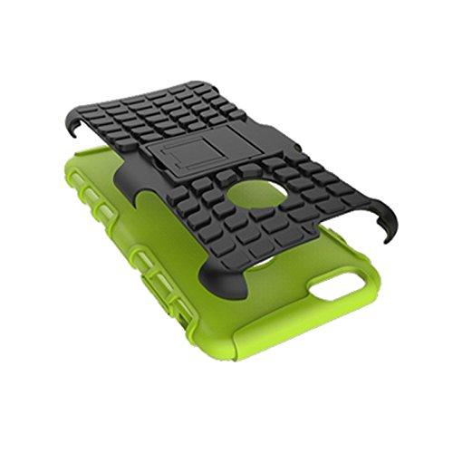 iPhone 6 Plus/ 6s Plus Funda,COOLKE Duro resistente Choque Heavy Duty Case Hybrid Outdoor Cover case Bumper protección Funda Para Apple iPhone 6 Plus/ 6s Plus (5.5 inches) - púrpura verde
