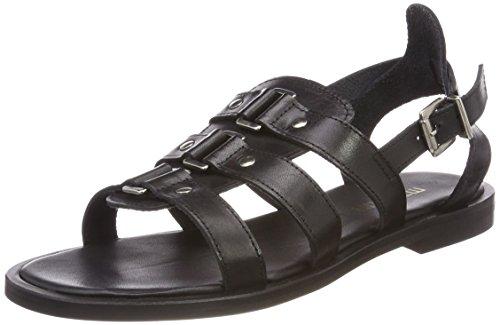 Mentor Damen Sandal Slingback Schwarz (Black)