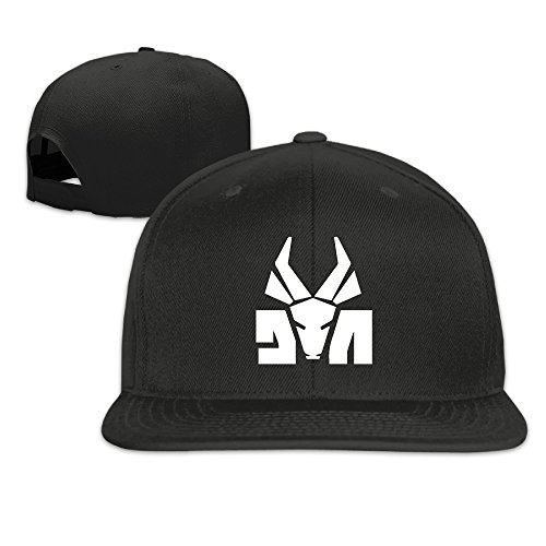 Die-Antwoord-Band-Logo-Unisex-Adjustable-Flat-Fitted-Hat-Baseball-Cap-Black