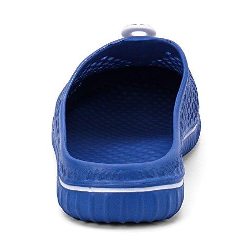 Aleader Mens&Womens Garden Clogs Lightweigth Summer Sandals Winter Warm Slippers 2 Styles Blue2233 SM7vOTH