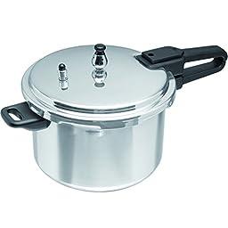 IMUSA, A417-80401, Aluminum Stovetop Pressure Cooker 4.2Qt, Silver