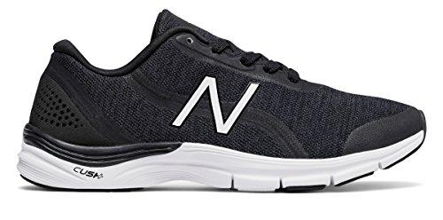 性別泥沼一回(ニューバランス) New Balance 靴?シューズ レディーストレーニング 711v3 Heathered Trainer Black with White ブラック ホワイト US 7.5 (24.5cm)