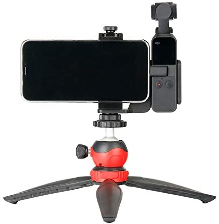 MeterMall New for OSMO Pocket Accessories Mobile Phone Holder Mount Set Fixed Stand Bracket for DJI for OSMO Pocket Handheld Cameras