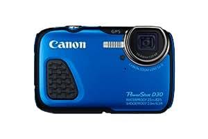 """Canon PowerShot D30 - Cámara digital acuática 12.1 Mp (sumergible hasta 25 m, pantalla de 2.7"""", zoom óptico 5x, estabilizador digital, vídeo Full HD, GPS), azul"""