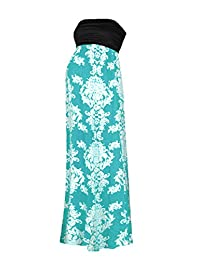 Beachcoco Women's Maternity Comfortable Printed Maxi Tube Dress