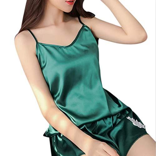 - Glaciers Silk Fashion New Ladies Sexy Faux Silk Sleeveless Camis Pajamas Arranged Girls Lady Female Blossom Embroidery Deep V-neck Sleepwear