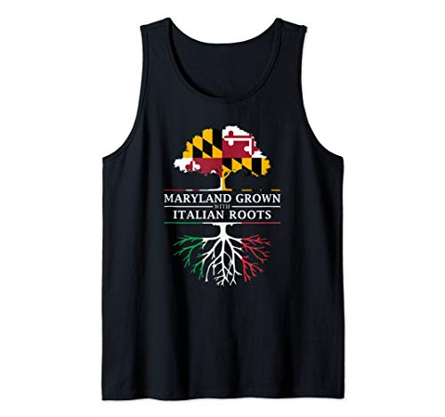 Maryland Grown with Italian Roots - Italy Tank Top