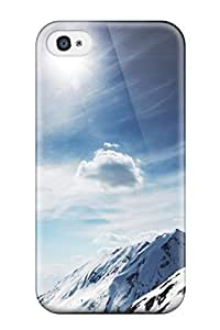 6974095K78763938 New Arrival Cover Case With Nice Design For Iphone 4/4s- Sunny Snowy Mountains