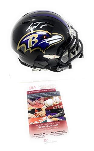Lamar Jackson Baltimore Ravens Signed Autograph Speed Mini Helmet JSA Witnessed Certified from Mister Mancave