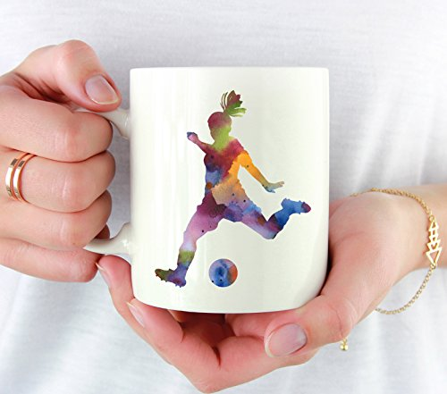Soccer Girl Mug - Soccer Player Coffee Mug - 11oz - Unique Girls Soccer Gifts