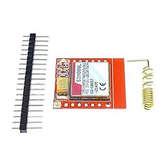 Amazon.com: Mini tarjeta SIM GPRS GSM Módulo Mini Pequeño ...