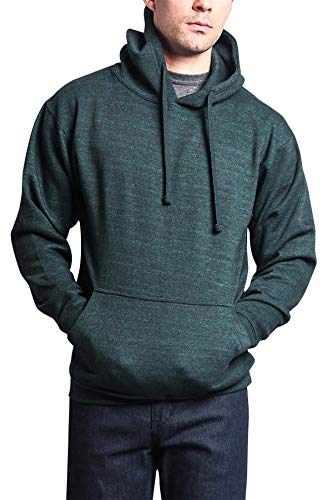 G-Style USA Men's Premium Heavyweight Pullover Hoodie Sweatshirts MH13101 - Forest Green Caviar - X-Large