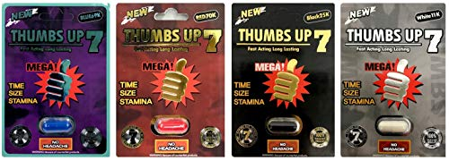 Bit & Bet Thumbs Up 7 4 Mix Pills Male Enhancing Natural Performance Pill The New Most Effective Natural Amplifier for Performance, Energy, and Endurance (Thum 4 Mix)