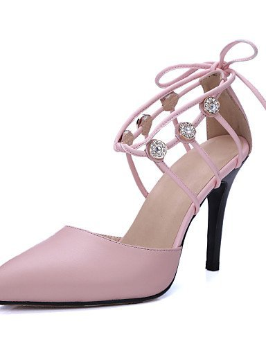 ShangYi Women's Shoes Cowhide / Leather Stiletto Heel Heels / Ankle Strap / Pointed Toe Heels Wedding / Office...