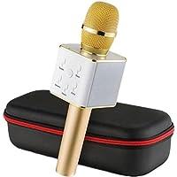 Rewy Teconica Q7 Karaoke Handheld Singing Machine with audio recording (Multicolor)