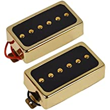TFW Replacement Pickup Set - P90 Gold, Humbucker Size Set of 2