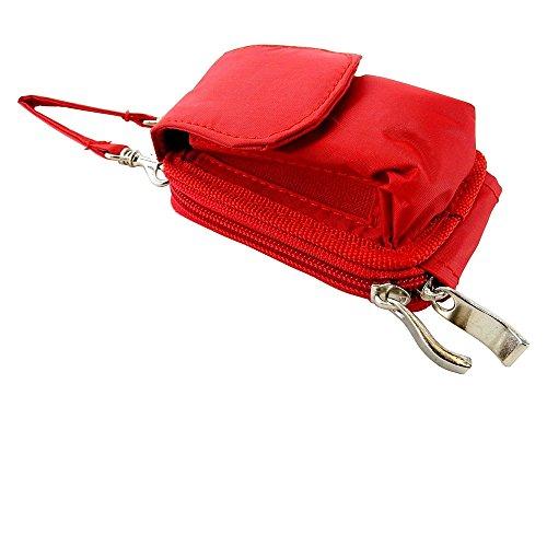 Nylon Flip Phone Case, Shoulder/Crossbody Strap, Belt Clip, Zipper Wallet ()
