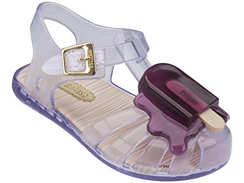Mini Slingbacks - Mini Melissa Aranha VIII BB Slingback Sandal (Toddler), Clear/Purple, 8 M US Toddler