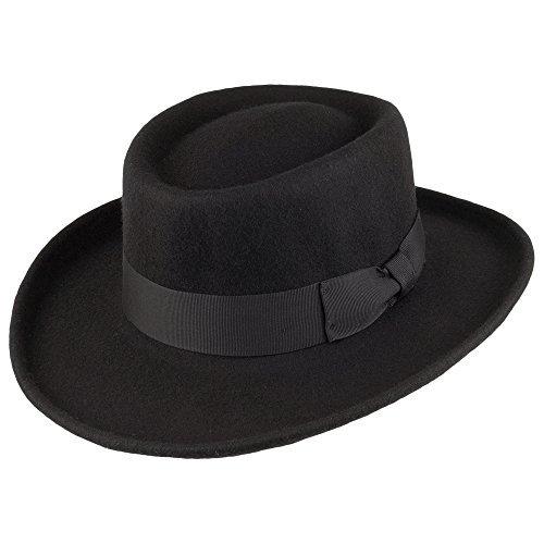 Jaxon Hats Wool Gambler Hat (X-Large, Black) -