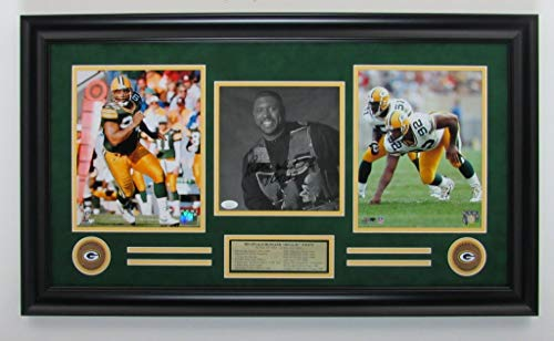 Reggie White Packers Signed/Autographed 8x10 Photo Collage Framed JSA 142800