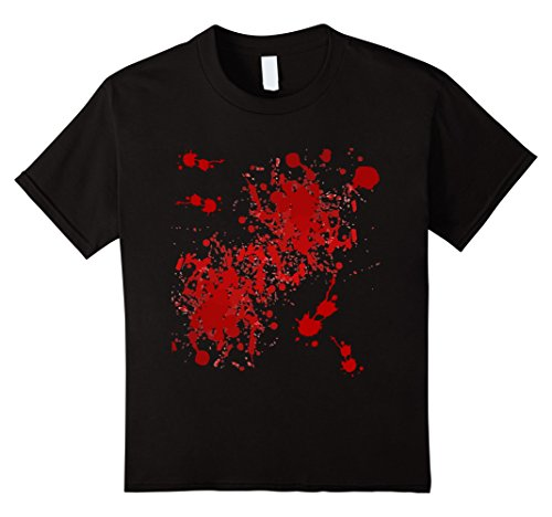 Kids Fake Blood Splatter T-Shirt 12 (Halloween Murderer Costume)