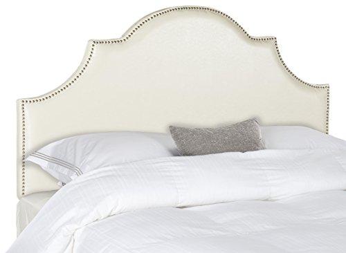 (Safavieh Mercer Collection Hallmar White Bicast Leather Arched Headboard (Full))