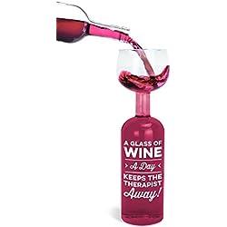 Wine Bottle Glass - Therapist