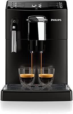 Philips Serie 4000 Máquina de café Espresso automática con espumador de Leche clásico, 0 W, 2 Cups, 0 Decibeles, plástico, Negro