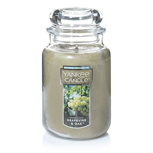 Yankee Candle Grapevine & Oak Large Jar Candle, Food & Spice Scent