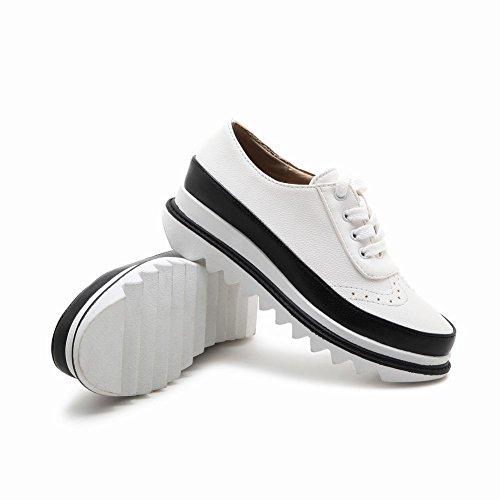 Latasa Lace up Women's Platform Shoes White Oxford rqgrCwnH