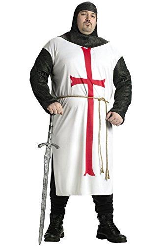 Fun World templar knight size costume, Plus (Knights Templar Costume)