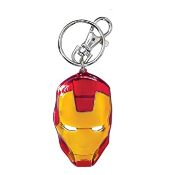 Monogram- Marvel Llavero Cabeza Iron Man, Multicolor (Hasbro Spain 67971)