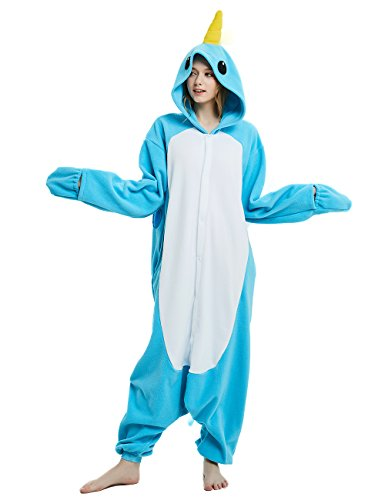 Ifboxs Unisex-Adult Animal Onesie Pajamas Narwhal Cosplay Costume ()