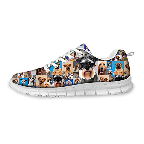 FOR U DESIGNS Cool Pug Papillon Print Mens & Womens Breathable Mesh Running Shoes Cute B3 3gJnh7UNT6