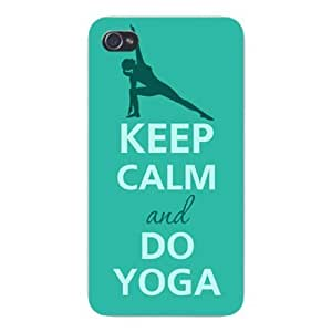 Apple Iphone Custom Case 5 / 5s White Plastic Snap on - Keep Calm and Do Yoga Female Leg Stretching